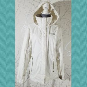 The North Face White Full Zip Hyvent Windbreaker
